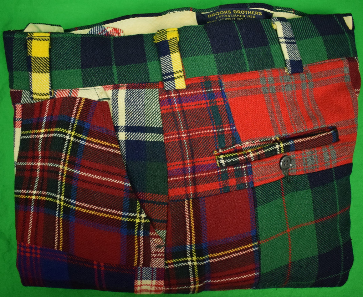 Brooks Brothers Patchwork Tartan Trouser