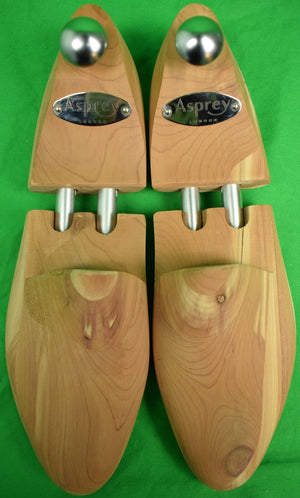 Asprey London Unvarnished Cedarwood Shoe Trees 8 D/E