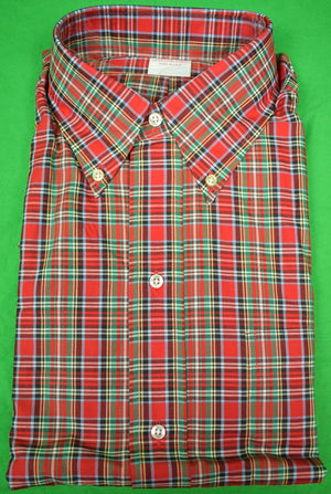 Brooks Brothers Tartan Broadcloth Sport Shirt Sz: 15 1/2- XL New in Bag!