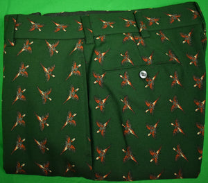 "Chipp Hunter Green Pheasant Challis Trousers Sz: 33""W (Sold!)"
