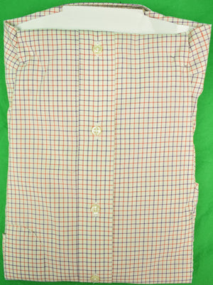 The Andover Shop Red & Blue Tattersall BD Dress Shirt Sz: 15 1/2-34 New w/ Tag!