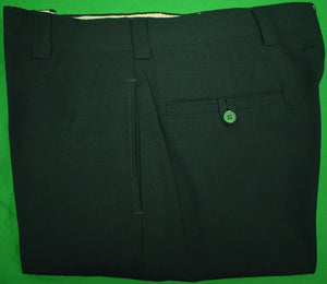 "Chipp Hunter Green Worsted GT Trousers Sz 34""W"