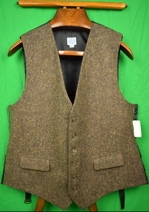The Andover Shop Brown Donegal Tweed Post Vest Sz: 46L New w/ Tag! (SOLD)