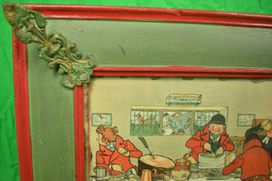 """Breakfast/ Supper"" Twin Vintage Framed Prints by Cecil Aldin"