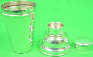 Single-Serving Engish Silver Kingsway Plate Cocktail Shaker