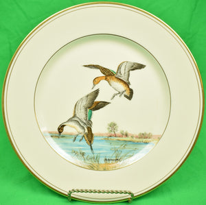 Set of 8 Vintage F. Vosmansky for Abercrombie & Fitch Wild Game Bird Dinner Plates