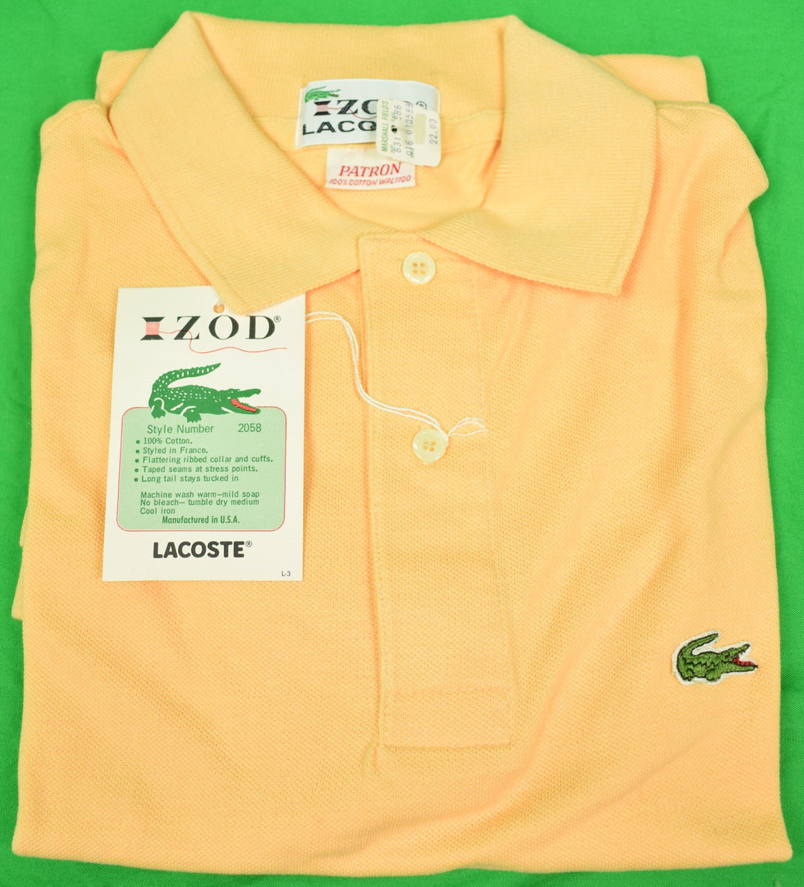 Izod Lacoste Melon Polo Shirt Sz: Patron New w/ Tag!