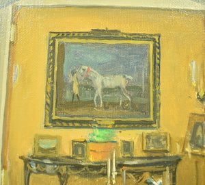 "Julian Barrow ""OAKENDALE"", From Front Hall To Drawing Room' 1993 Oil on Canvas"