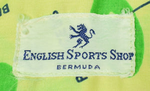 English Sport's Shop Short/ Sleeve Sport Shirt w/ Bermuda Golf Course Images Sz: XL/ 46R
