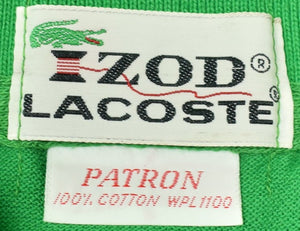 Izod Lacoste Kelly Green Polo Shirt Sz: Patron New/ Old 'Dead'Stock w/ Tag!