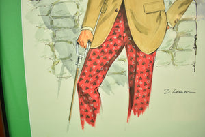 """Chipp Country Squire"" Illustration Watercolour by D. Lemon"