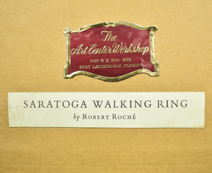 Saratoga Walking Ring c1960 Giclee by Robert Roche