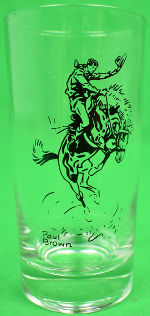 Set of 12 Paul Brown Equestrian Theme Tumbler c1950s Glasses
