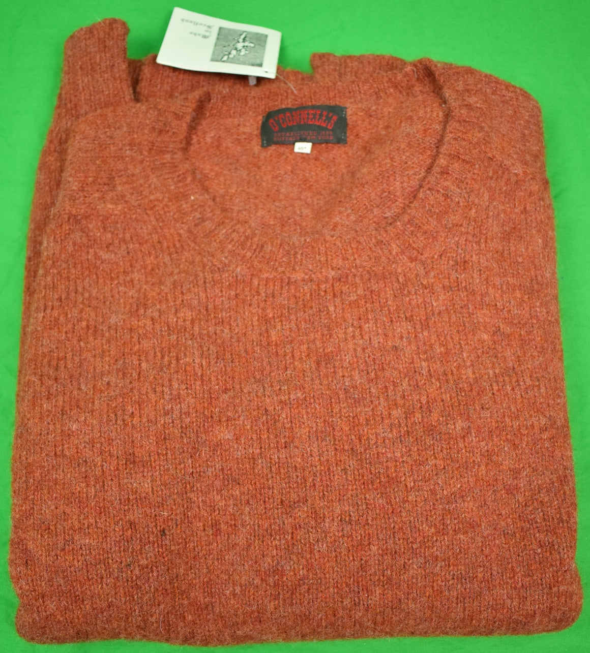 O'Connell's Scottish Shetland Crew Neck Sweater Sz: 46 New w/ Tag!