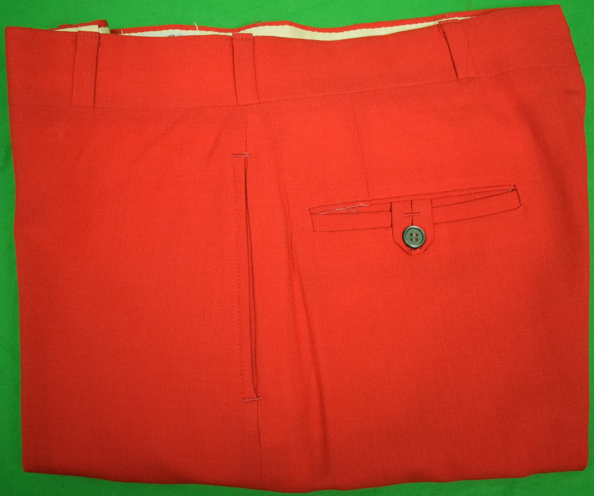 "Chipp Red Worsted GT Trousers Sz 34""W"