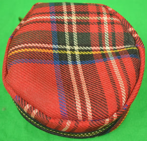 Abercrombie & Fitch Royal Stewart Tartan Plaid Fishing Reel Zip-Lined Pouch