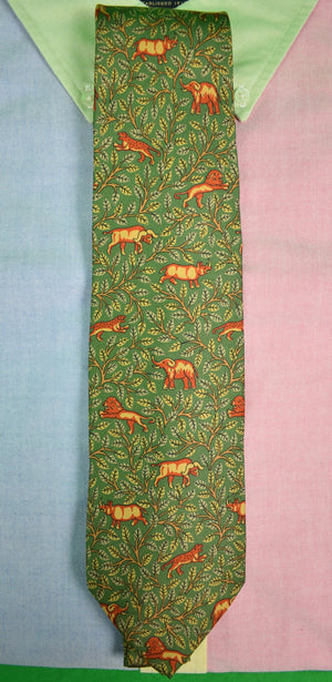 Drakes/ Holland & Holland Big Game Safari Print Tie (SOLD)