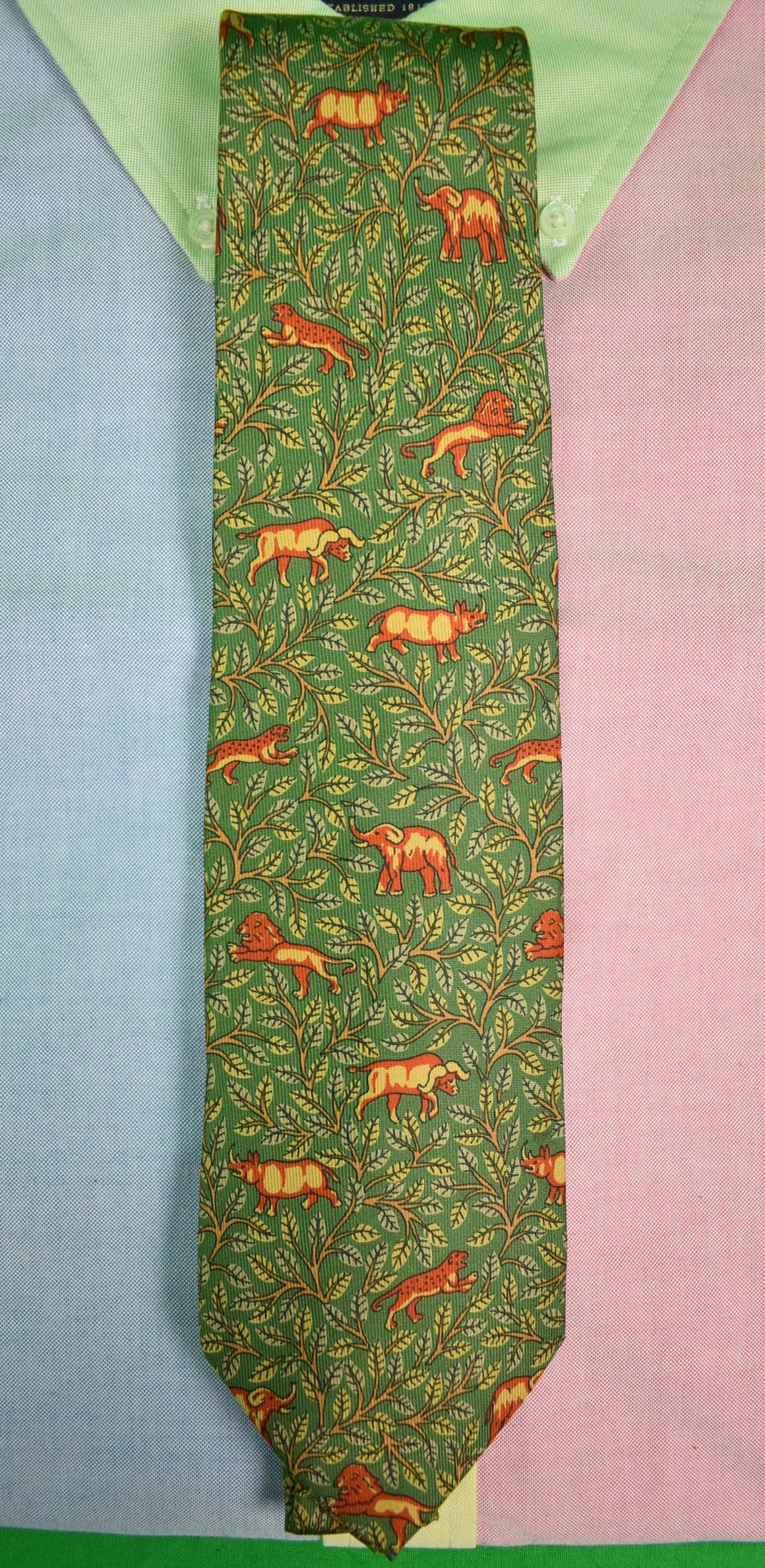 Drakes/ Holland & Holland Big Game Safari Print Tie (Sold!)