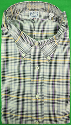The Andover Shop Brush Cotton Glen Plaid BD Sport Shirt Sz: XL New w/ Tag!
