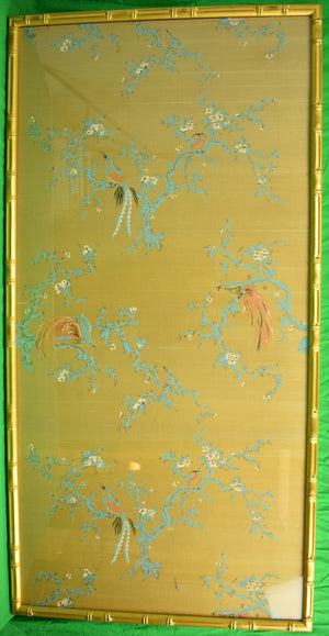 Chinoiserie Botanical Silk Panel