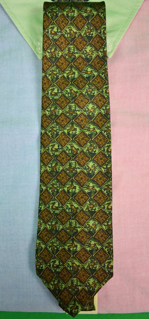Drakes/ Holland & Holland Hunting Dog Tie