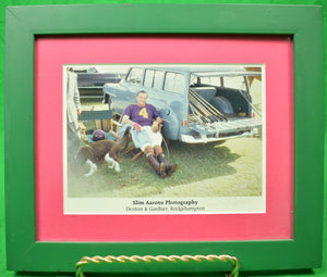 """Laddie Sanford at Gulf Stream Polo"" Signed by Slim Aarons (1916-2006) (SOLD)"