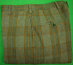 "Chipp Plaid Cheviot Tweed GT Lined-Trousers Sz 34""W"