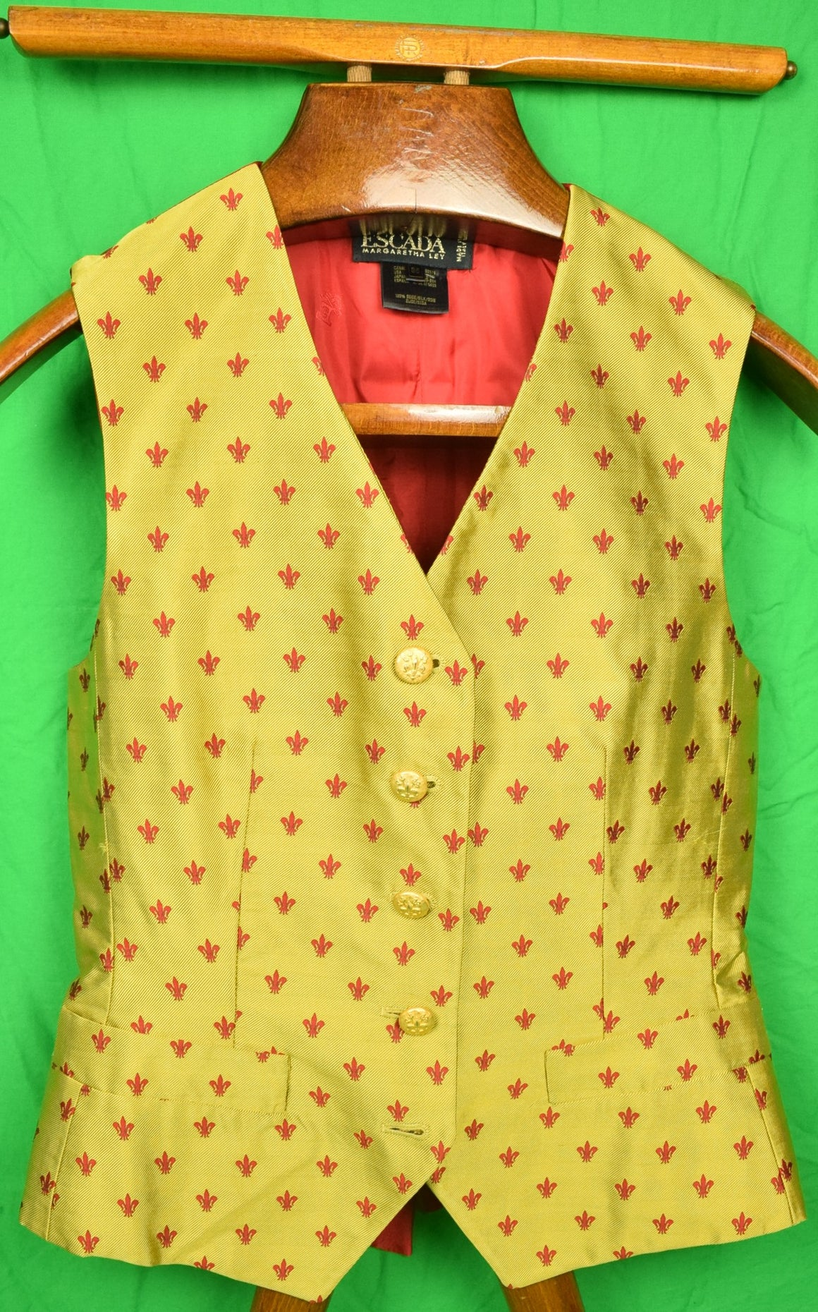 Escada by Margaretha Ley Ladies Yellow Silk Vest Sz: 36