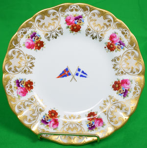 Set of 3 New York Yacht Club Cauldon English China Plates