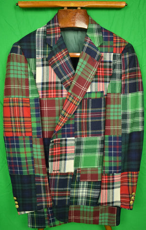 Patch Tartan Sport Jacket Sz: 38R