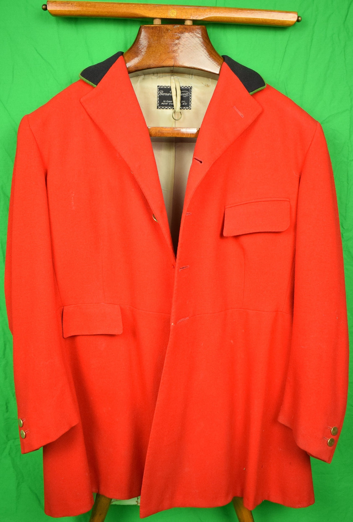 Bernard Weatherill c1974 Scarlet Millbrook Fox-Hunt Coat Sz 39R
