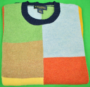 Brooks Brothers Patch Panel Shetland Crew Neck Sweater Sz: XL