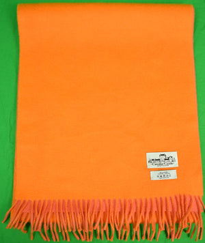 Cawdor Castle Scotland Orange/ Coral Cashmere Scarf (Sold!)