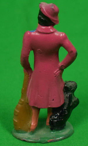 Woman in Pink Outfit w/ Scottie Dog