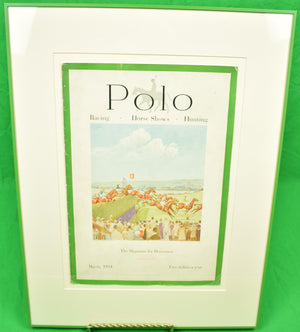 Polo Magazine Cover March, 1934 w/ the Grand National at Aintree by Paul Brown