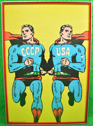 'Superpowers' c1968 Framed Linen Poster