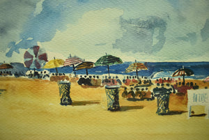 """A Day at The Beach"" Watercolour"