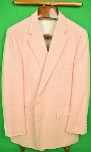 Custom-Made Gent's Shell Pink Herringbone Sport Jacket Sz: 46R