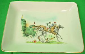 Brooks Brothers Steeplechase Jockeys by Robert Riger Ceramic Dish