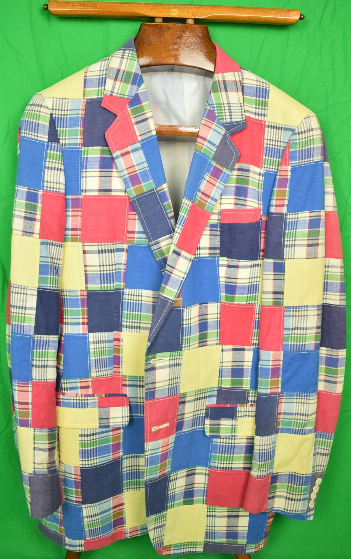 Patch Madras Gent's Sport Jacket Sz: 43R