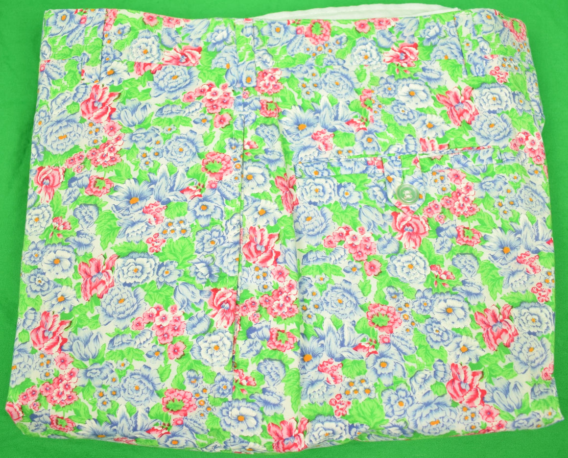 "Chipp Tropical Floral Print Cotton Trousers Sz: 34""W (Sold!)"