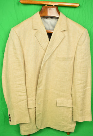 Orvis 'Signature Collection' Oatmeal Linen Herringbone Sport Jacket Sz: 46L
