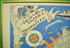 'Map of the Downtown District of Manhattan c.1938 Pub. by Gardner Osborn'