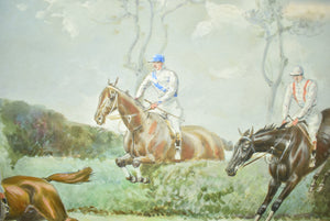 """The Grand Military Gold Cup"" c1905 Watercolour & Gouache by John Beer"