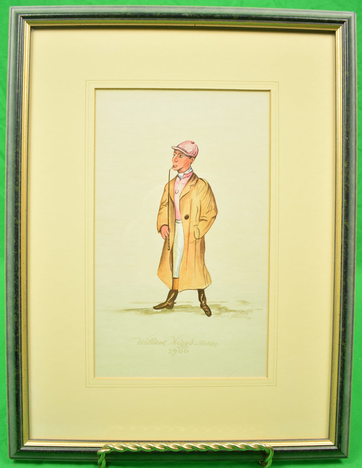William Higgs, Jockey 1906 Watercolour by Wm. Pearce 08