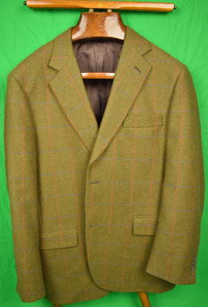 The Andover Shop Lovat Scottish Tweed Windowpane c2014 Sport Jacket Sz 44R