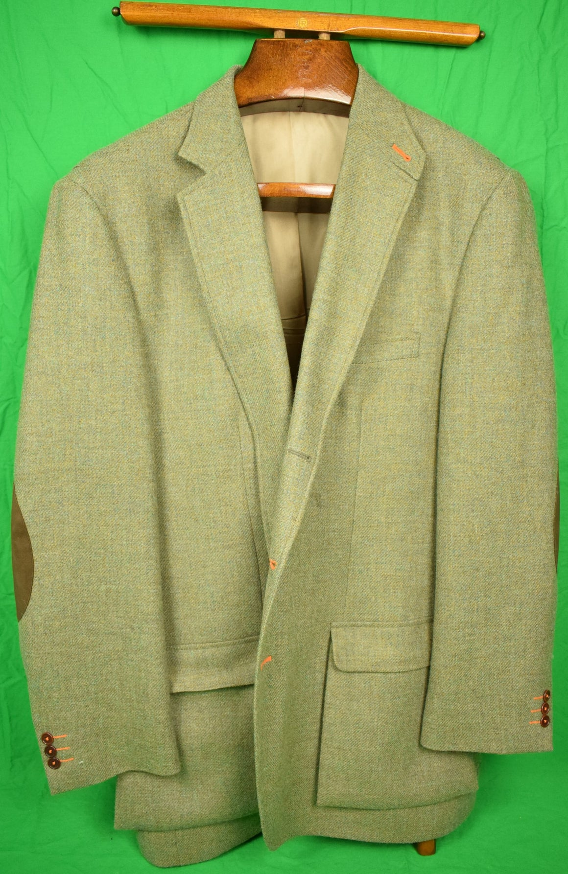 Orvis Lovat Shetland Tweed Shooting Jacket Sz: 46L