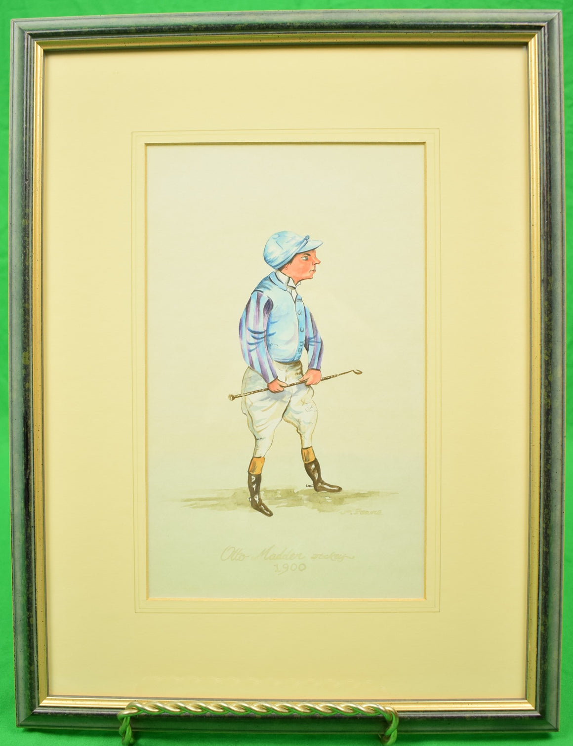 Otto Madden Jockey 1900 Watercolour by Wm. Pearce