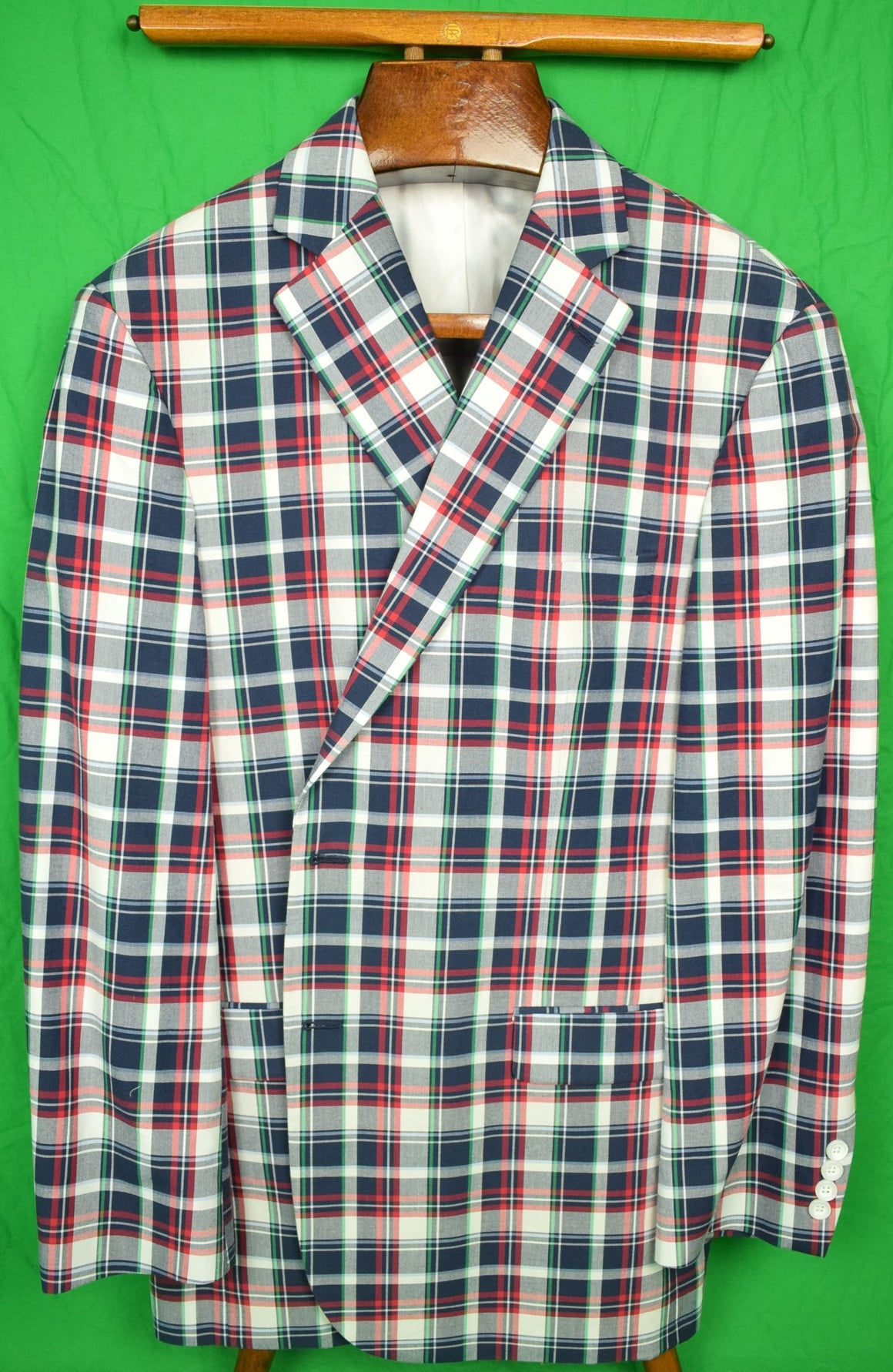 Brooks Brothers '346' Cotton Madras Jacket Sz: 46RG