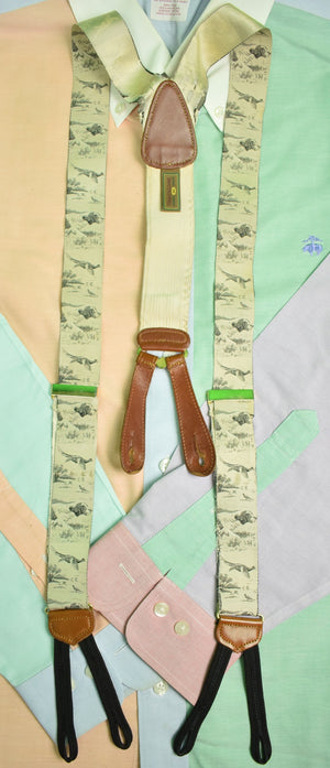 Trafalgar Hunting Dog & Pheasant Silk Braces